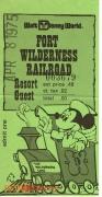 Fort Wilderness Railroad Ticket
