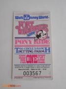 Fort Wilderness Pony Ride Ticket