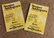 1987 Sunset Adventure Ticket