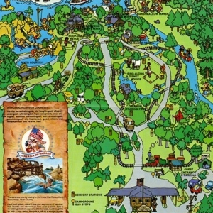1976 Fort Wilderness Map
