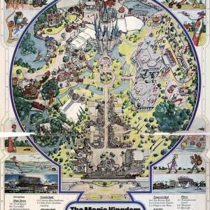 Eastern Airlines Magic Kingdom at WDW Map