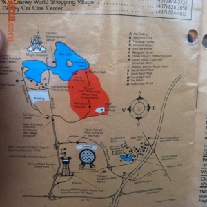 WDW Map from Birnbaum Guide