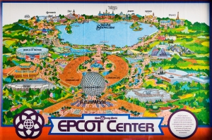 EPCOT Map 80's