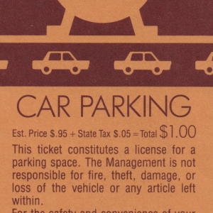 1983 EPCOT Parking Pass - Front