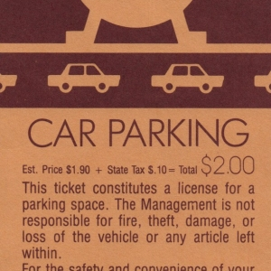 1985 EPCOT Parking Pass
