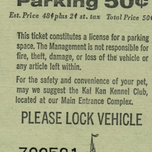 April 1976 Parking Pass