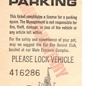 April 1975 Parking Pass