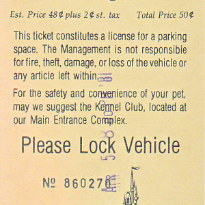 April 1981 Parking Pass
