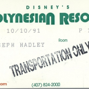 1991 Polynesian Resort ID