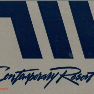 1992 Contemporary Resort ID - Back