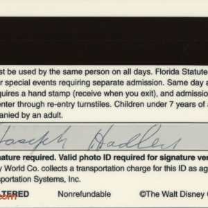 1994 Polynesian Resort ID - Back