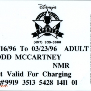 1996 All Star Sports Resort ID