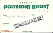 1991 Polynesian Resort ID