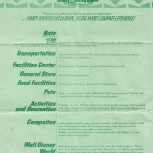 Fort Wilderness Informational Brochure