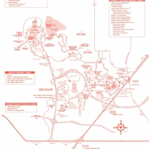 1996 All Star Resort - Sports Map - Reverse