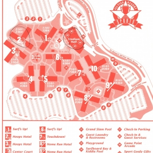 1996 All Star Resort - Sports Map