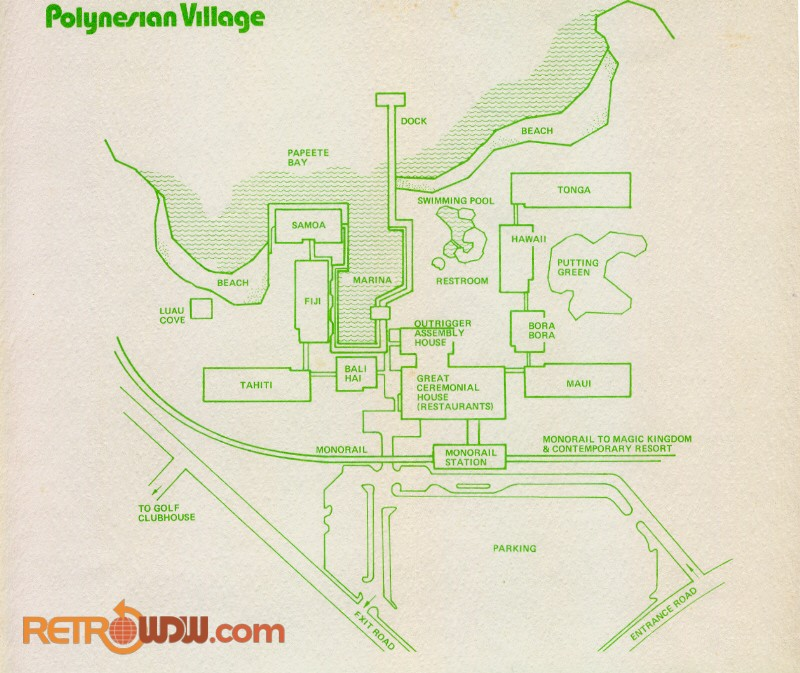 Original Polynesian Village Map