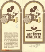 1985 Walt Disney World Travel Co. Folder