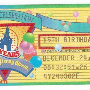 15 Year Birthday Ticket