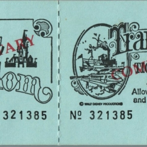 1970s Admission Ticket - Complimentary