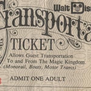 1970s Transportation Ticket