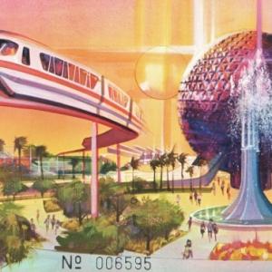 1981 3Day EPCOT Commemorative Ticket - Child
