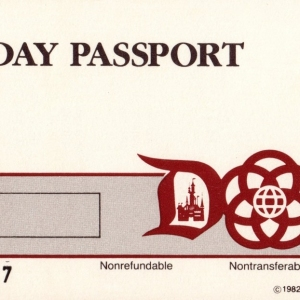 1982 Complimentary 1Day Ticket