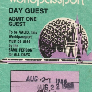 1986 3Day Adult Ticket