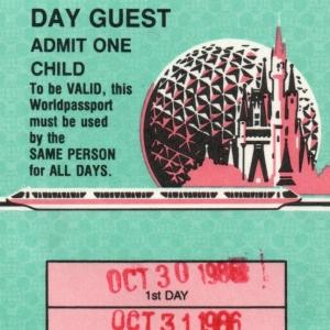 1986 3Day Child Ticket