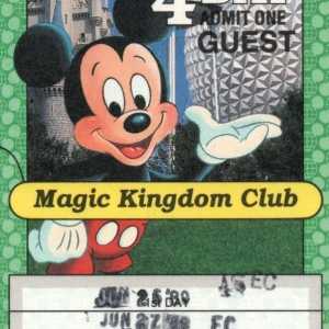 1989 4Day MKC Adult Ticket
