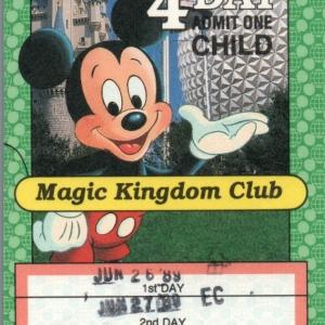 1989 4Day MKC Child Ticket