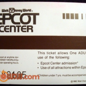 EPCOT Ticket '82 (bacK)