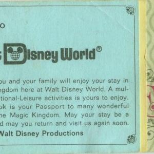WDW Ticket Book 1977