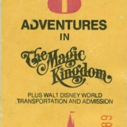 8 Adventures Ticket Book - WDW 1977