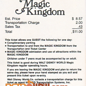 1983 Salute Ticket (back)