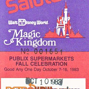 1983 Salute Ticket