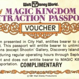 Magic Kingdom Attraction Voucher