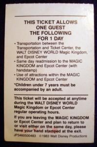 Worldpassport Ticket '83 Back