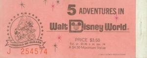 WDW In-park Ticket '77