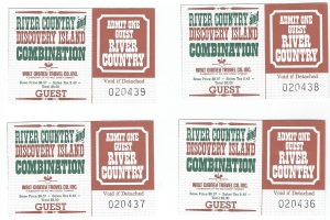 River Country Tickets 1986