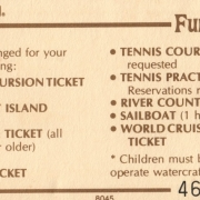 1970s Fun 'N Sun Ticket