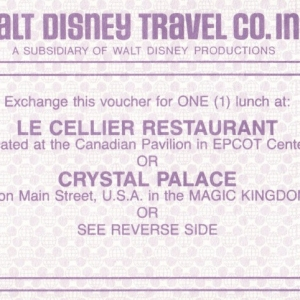 1986 Learning or Lunch Voucher 2