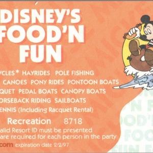 1996 Food n Fun Recreation Coupon - Orange