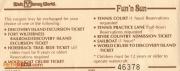 1970s Fun 'N Sun Ticket