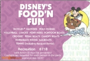 1996 Food n Fun Recreation Coupon - Purple