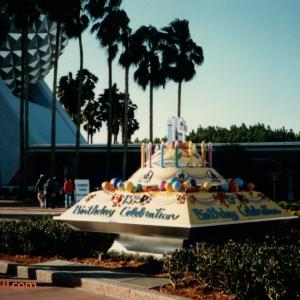 Epcot 15th Anniversary Cake