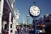 Walking right down the middle of Main Street USA