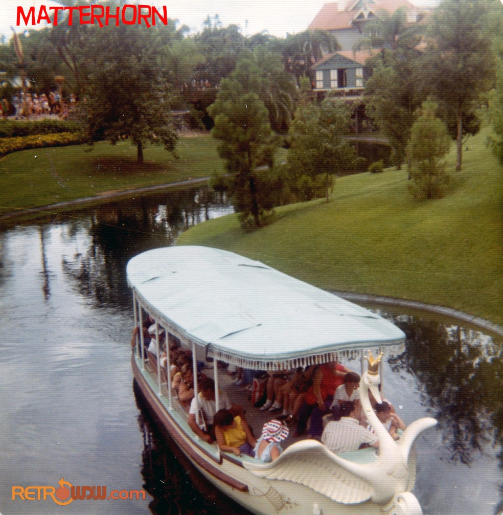 Plaza Swan Boat Coming From Adventureland
