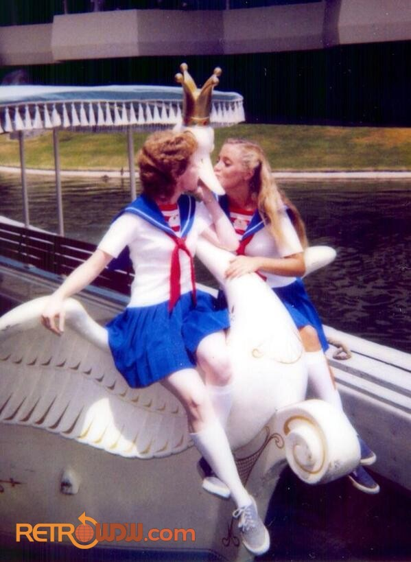 Swan Boat CMs Kissing the Boat