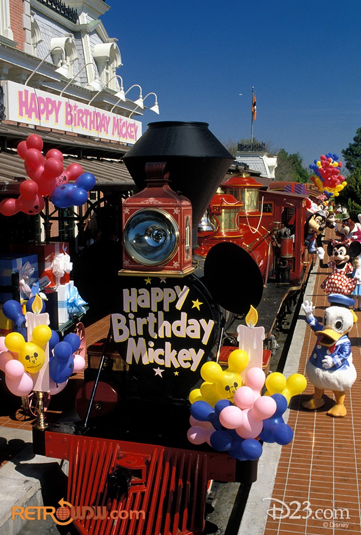 Happy Birthday Mickey Mouse Train
